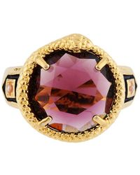 Les Nereides - Ostentatious Obscurity Waving Snake Around Faceted Glass Signet Ring - Lyst