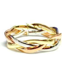 Jewelry Affairs - 14k Tri-color Gold Intertwined Braided Ring, 5mm - Lyst