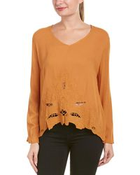 The Hanger | Embroidered Eyelet Top | Lyst