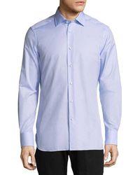 Ermenegildo Zegna - Solid Dress Shirt - Lyst