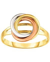 Jewelry Affairs - 14k Tricolor Gold Lovers Love Knot Ring, Size 7 - Lyst