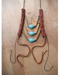 Love Leather - Wading Waters Necklace - Lyst