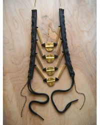 Love Leather - Golden Rocked Necklace - Lyst