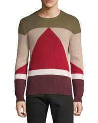 Valentino - Maglia Colorblocked Cashmere Sweater - Lyst