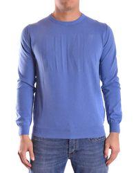 Dirk Bikkembergs - Men's Cs84bfjxb037y29 Blue Cotton Sweater - Lyst