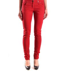 Isola Marras - Women's Red Cotton Pants - Lyst