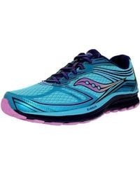 Saucony - Women's Guide 9 Blue/purple/pink Ankle-high Running Shoe - 5m - Lyst