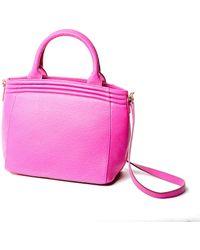 Lauren Cecchi New York - Getaway Top Handle Bag In Hibiscus Pink - Lyst