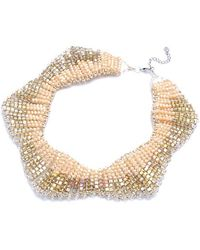 Nakamol - Shooting Star Necklace-cream Crystal - Lyst