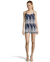 Romeo and Juliet Couture - Lace Embroidered Woven Romper - Lyst