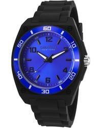 Caravelle NY - Men's Black Silicone Blue Dial - Lyst