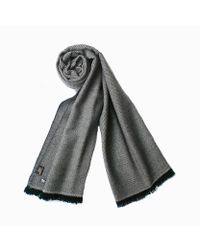 Plush Cashmere - Pink And Red Twill Weave Cashmere Stole - Lyst