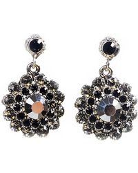 Otazu - Clear Swarovski Crystal Flower Drop Earring - Lyst