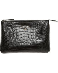 Vivienne Westwood Anglomania - Women's Black Leather Clutch - Lyst