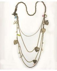 Otazu - All About Love' Swarovski Crystal Multi Chain Necklace - Lyst