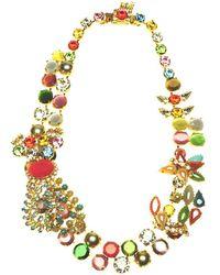 Otazu - Swarovski Crystal And Colour Splash Statement Necklace - Lyst