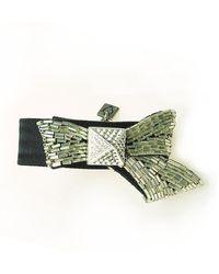 Otazu - Swarovski Crystal Bow Pyramid Bracelet - Lyst