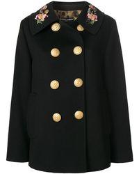 Dolce & Gabbana - Dolce E Gabbana Women's Black Wool Coat - Lyst