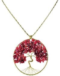 Aeravida - Eternal Tree Of Life Brass Long Necklace - Lyst