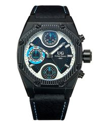 Ulysse Girard - Delete Laroque Chronograph Men's Watch Quartz Genuine Leather Strap - Lyst