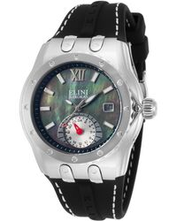 Elini Barokas - Genesis Vision Black Silicone And Mother Of Pearl Dial - Lyst
