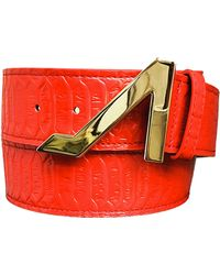 Apolinar - Leather Belt Red & Gold Collection - Lyst