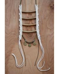 Love Leather - Golden Ladder Necklace - Lyst