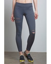 Nesh NYC - Torn Legging - Grey - Lyst