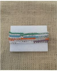 Botticelli's Niece - Sterling And Turquoise Double Wrap Bracelet - Lyst