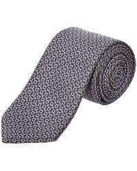 Ferragamo - Grey Gancio Silk Tie - Lyst