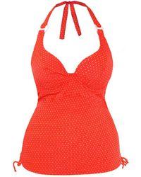 Curvy Kate - Red Tankini Swimsuit Plain Sailing - Lyst