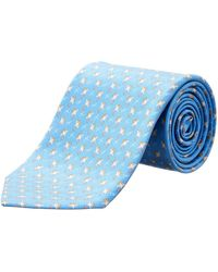 Ferragamo - Light Blue Stingray Silk Tie - Lyst