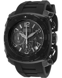 Elini Barokas - The General Chronograph Black Silicone & Dial Black Ip Stainless Steel - Lyst