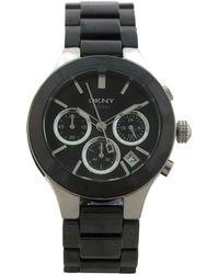 DKNY - Ny4914 Black Ceramic Bracelet Watch - Lyst