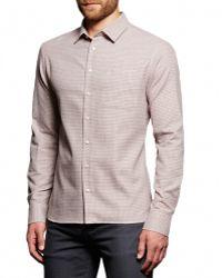 Boga - Tobacco & Charcoal Plaid Sport Shirt - Lyst