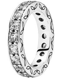 PANDORA - Eternity Silver Cz Ring - Lyst