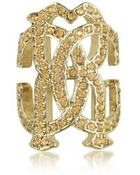 Roberto Cavalli - Women's Gold Metal Ring - Lyst