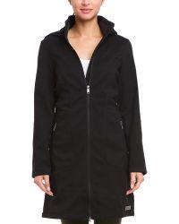 Merrell - Haven Black Hooded Softshell Coat - Lyst
