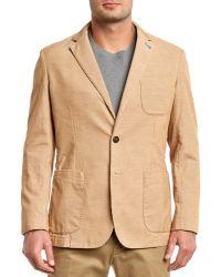 Peter Millar - Melange Tan Corduroy Cotton Jacket - Lyst
