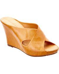 Chocolat Blu - Cypress Leather Wedge Sandal - Lyst