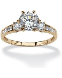 Palmbeach Jewelry - 2.14 Tcw Round Cubic Zirconia Engagement Anniversary Ring In 10k Gold - Lyst