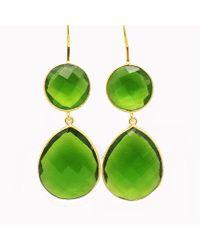 Blue Candy Jewelry - Double Gumdrop Green Hydro Quartz Earrings - Lyst