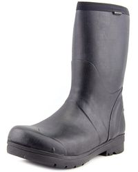 Bogs - Food Pro Mid Men Round Toe Synthetic Black Work Boot - Lyst