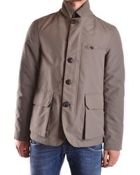 AT.P.CO - Men's Beige Polyester Outerwear Jacket - Lyst