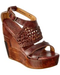 Bed Stu - Petra Leather Wedge Sandal - Lyst