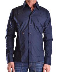 Dirk Bikkembergs - Men's Mcbi097008o Blue Cotton Shirt - Lyst
