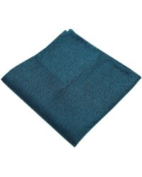 Dibi - Aqua & Black Textured Pocket Square - Lyst
