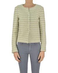 Ottod'Ame - Women's Beige Polyester Jacket - Lyst