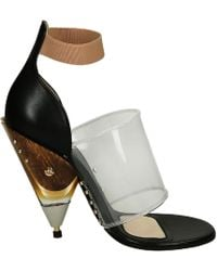 Givenchy - Women's 535945451748 Black Leather Sandals - Lyst