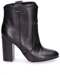 Giampaolo Viozzi - Women's Black Leather Ankle Boots - Lyst